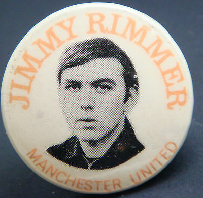 MANCHESTER UNITED FC Player from 1965-1974 JIMMY RIMMER Badge 31mm x 31mm