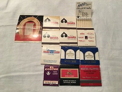 Lot (13) Vintage Las Vegas Hotel & Casino Matchbooks