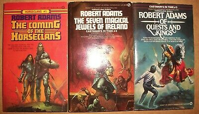 2-3 Castaways in Time The Seven Magical Jewels Quests lot Kings Robert Adams VG