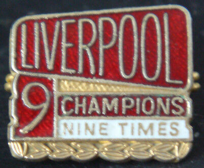 LIVERPOOL Vintage 1976 9th LEAGUE CHAMPIONS Badge Maker COFFER N'ton 23mm x 20mm
