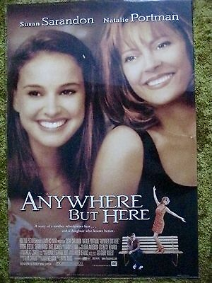 Anywhere But Here Movie Poster Auth 2 Sided Rolled 27 X 40'' Sarandon & Portman