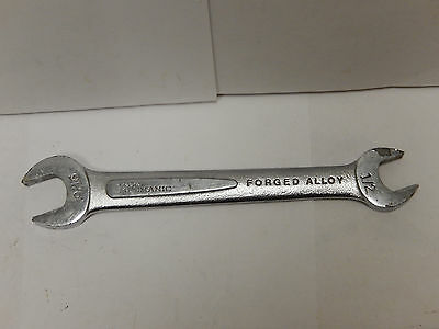 """Master Mechanic T5718 Forged Steel Open End Wrench 9/16"""" & 1/2"""" Made In USA"""