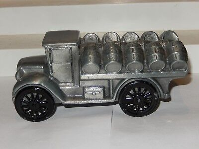 1928 Beer Keg Barrel Hauling Truck Bank,  Banthrico Metal Coin Bank RARE COLOR