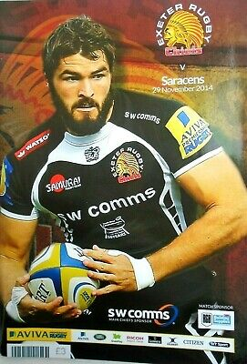 exeter rugby chiefs  v  saracens  2014 RUGBY PROGRAMME free p&p to uk