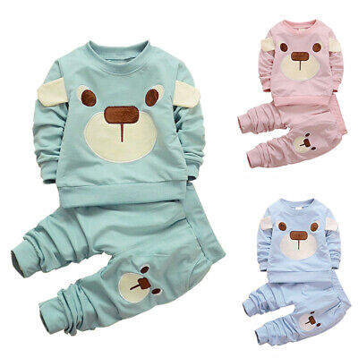 Set Cute Baby Pants Infant Kids 2017 Shirt Outfits Clothes Boys Long Toddler