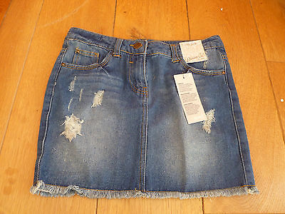 Denim Co Primark Washed Distressed Blue Denim Mini Skirt 11 12 Years 152 Cm New