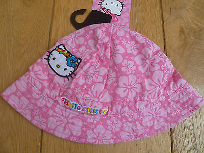 Marks And Spencer Hello Kitty London Applique Surf Flower Print Hat 18 M 2 3 Y