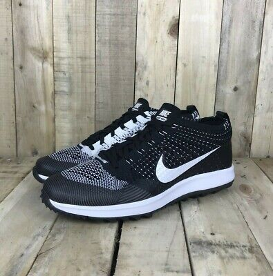 a36d0ab6ad58f NWOB NIKE FLYKNIT Racer G Men s Golf Shoes Size 9 Black White ...