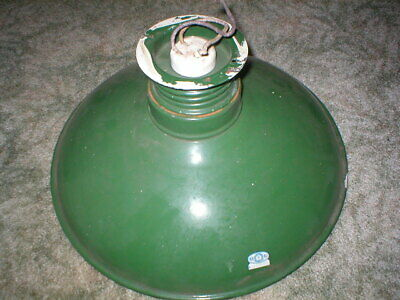 VINTAGE IVANHOE Canopy Light Fixture Shade, socket, Leads, swivel stem, Miller.