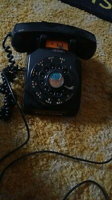 vintage western electric bell systems black rotary telephone