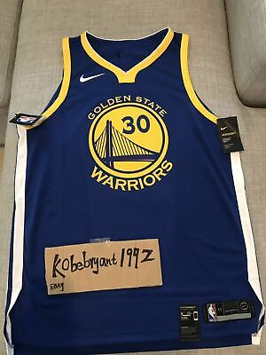 c7591616ca36 NIKE Stephen Curry ICON WARRIORS AUTHENTIC JERSEY 863022-495 SIZE 52 XL  200
