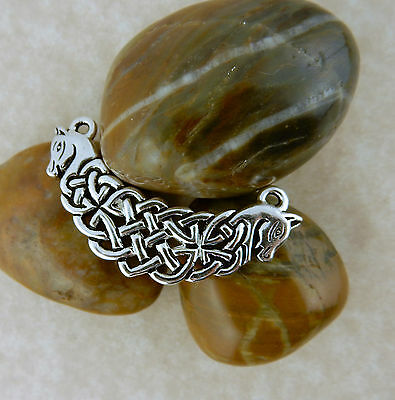 Silver Celtic Knot horse, Connemara ponies pendant jewelry making, Irish