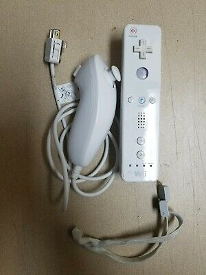 Nintendo OEM Remote Wiimote + Nunchuck Set (for Wii And Wii U) * TESTED & NICE *