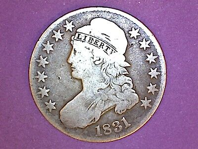 Capped Bust Half Dollar - 1831 - KM# 37