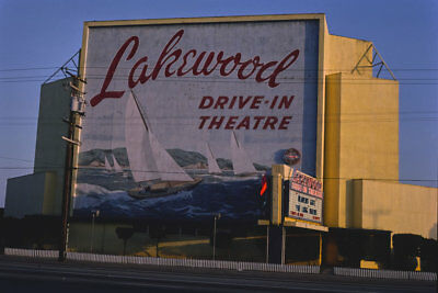 Lakewood Drive-in Movie Theater Carson St CA California 1981 View 8x12 photo