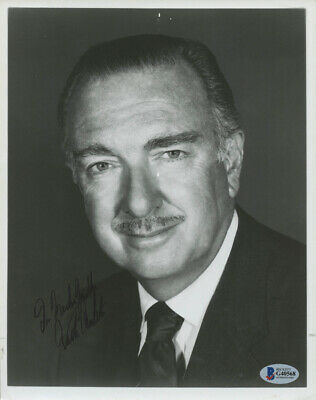 Walter Cronkite Signed Autographed 8x10 Photo Inscribed Beckett COA