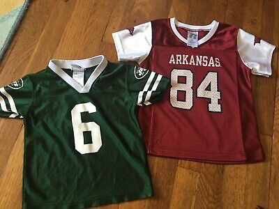 Toddler 3T/4T Jersey Lot Arkansas Razorback And NY Jets Sanchez