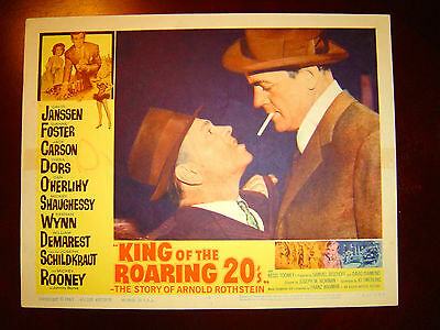 Mickey ROONEY, Dan O'Herlihy Lobby Card KING OF THE ROARING 20'S (1961) Arnold R