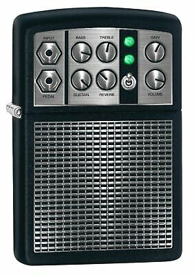 Zippo 5399, Stereo Amplifier, Black Matte Finish Lighter