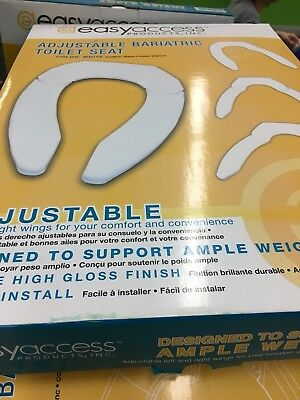 Easy Access Adjustable Bariatric Toilet Seat Larger Weight