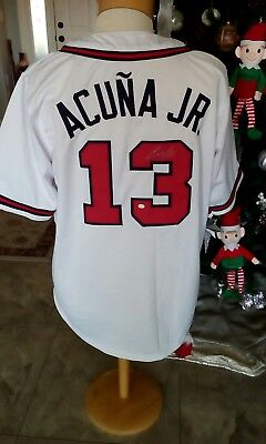 cbdceb998 RONALD ACUNA, JR. Autographed Signed Atlanta Braves Jersey PAAS COA - NL ROY