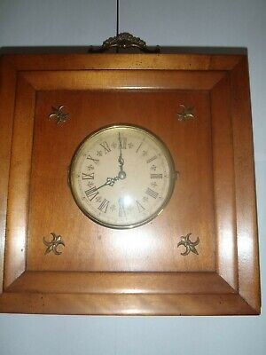 Antique Schatz Art Deco Arts & Crafts Style Mantle shelf  mechanical Clock