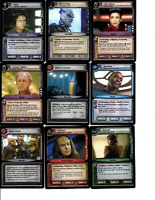 Star Trek 2E To Boldly Go Trading Cards With Rares/ Uncommons 2005 Ccg
