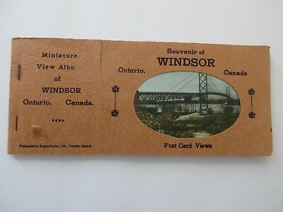 Vintage Post Card Album of Windsor Ontario Canada With Miniature View Cards