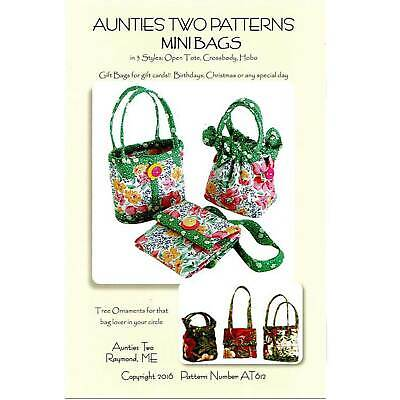 Aunties Two Sugarloaf Swing Bag Batik Handbag Project Tote Sewing Pattern