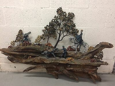 Don Quixote by Spencer '83 Wall Sculpture Wood Metal Wire 4' X 3' Cool Piece