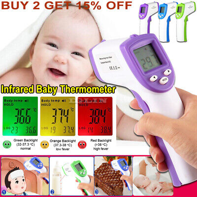 Non-Contact Baby Thermometer Digital Forehead Infrared Medical Adult Body Care *