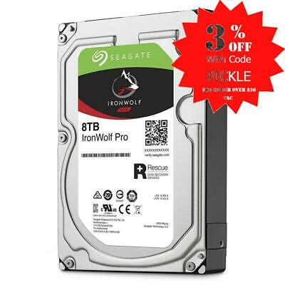 Seagate Ironwolf Pro Ent NAS HDD 8TB 3.5in Internal SATA 6GB/S 7200RPM 256MB