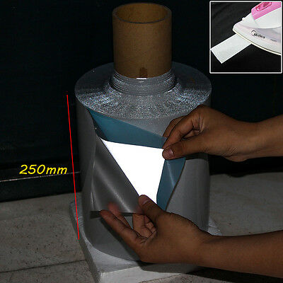 """IRON ON Reflective Tape Light Weight Silver Reflective Fabric 2/"""" x 328 ft 100m"""