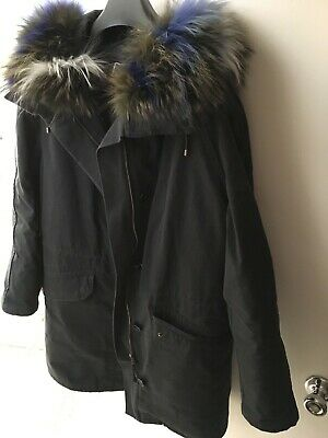 ARMY BY YVES SALOMON 2in1 Parka Jacket Size 36 S Partly
