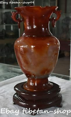 Top Quality China Natural Agate Onyx Carnelian Hand Carving Vase Bottle Jar Jug
