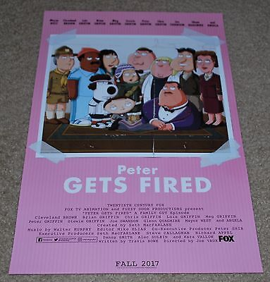 Sdcc 2017 Exclusive Fox Twentieth Century Peter Gets Fired Poster