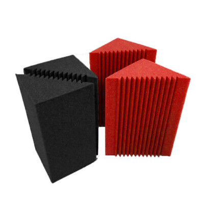 4x Small Bass Trap Corner Wall Good Soundproof Foam For Studio 12*12*24cm