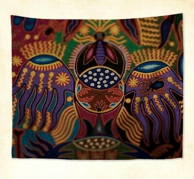 2PCS home decoration Huichol painting Mexican tribal cushion cover US SELLER