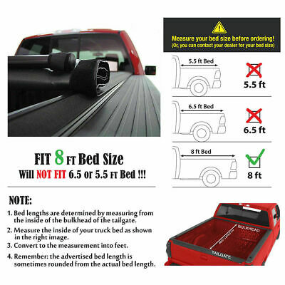 Roll Lock Soft Tonneau Cover For 1999-2017 F-250//350 Super Duty 8ft//96in Bed