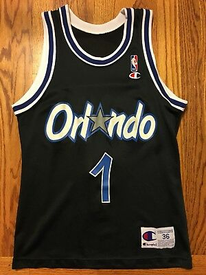 dc6bfab2b2f Black Champion Orlando Magic Penny Hardaway Jersey Men s Size 36 S Small