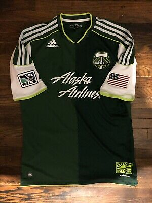 low priced d8536 20c51 PORTLAND TIMBERS NON army Authentic Jersey Adidas L inaugural 2011