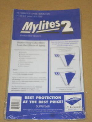 50 Factory Sealed Mylites2 CURRENT (= current Mylar) FREE SHIPPING