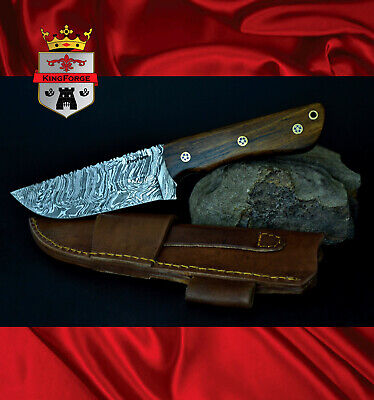 015 Bush knife KingForge Damascus hunting knives blade gift survival tool blade