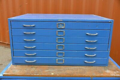 Funky retro Plan drawer file tool cabinet Adelaide paint art studio 115x87x55cm