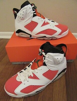 47e5aab4b04303 Nike Air Jordan 6 Retro VI Size 11.5 Summit White Team Orange 384664 145  New NIB