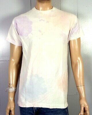 0ab7daa4d1251 vtg 80s 90s BVD single stitch WORN Washed Out Faded Pastel Tie Dye T-Shirt