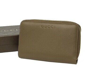 89af276456b 100% AUTHENTIC GUCCI Logo Print Leather Zip Around Wallet -  384.00 ...