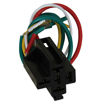 1Pcs 5pin Pre-wired Relay Socket for Using with DC 12V Five Terminal Relays