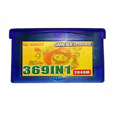 369 in1 GBA Spiel Game Card für NDS GBA SP NDS GameBoy Multicart Cartridge