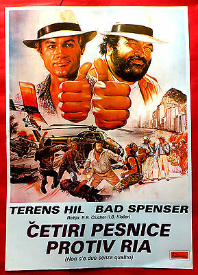 Double Trouble 1984 Terence Hill Bud Spencer Enzo Barboni Rare Exyu Movie Poster